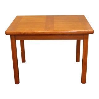 1960s Mid Century Modern Wooden Sofa Table For Sale