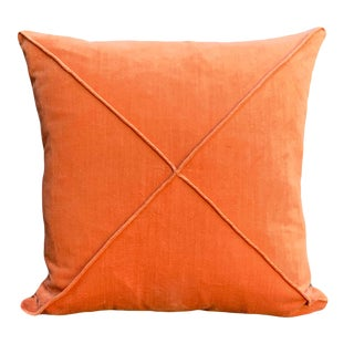 Contemporary Burnt Orange Throw Pillow For Sale