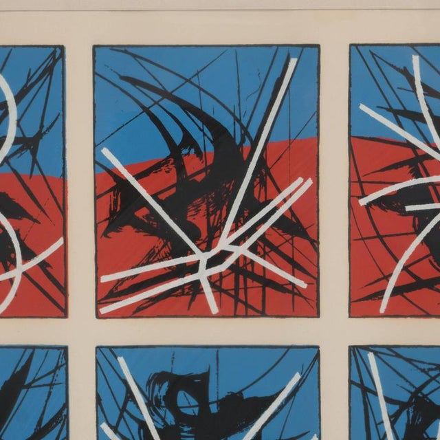 Metal Mid-Century Modernist Screenprint by Jimmy Ernst Untitled For Sale - Image 7 of 11