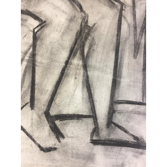 Abstract 1950's Cubist Charcoal Female Nude Henry Woon Bay Area Artist For Sale - Image 3 of 8