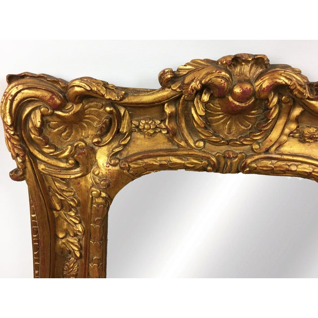 20th Century Italian Ornate Gilt Detailed Mirror For Sale - Image 4 of 5