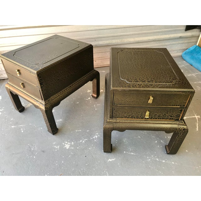 Asian Asian Inspired End Tables by Lane Furniture - a Pair For Sale - Image 3 of 9