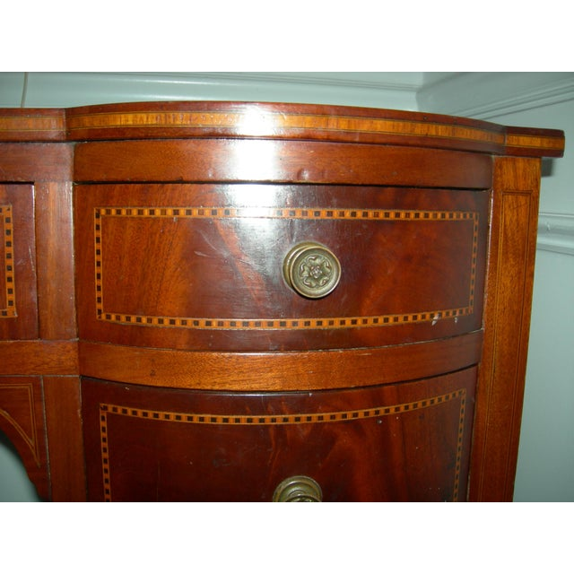 Hepplewhite Mahogany Inlay Desk For Sale In Greenville, SC - Image 6 of 13
