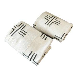 Mali White & Black Mud Cloth Fabrics - A Pair