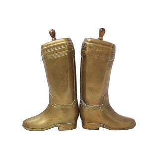 Brass Riding Boot Bookends Preview