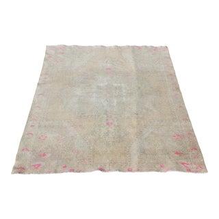Hand Konotted Turkish Wool Carpet - 6' 9'' x 4' 4''
