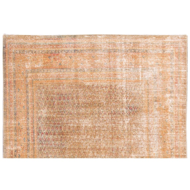 """1910s 1910s Traditional Apadana-Antique Persian Distressed Rug - 6'8"""" X 10'5"""" For Sale - Image 5 of 10"""