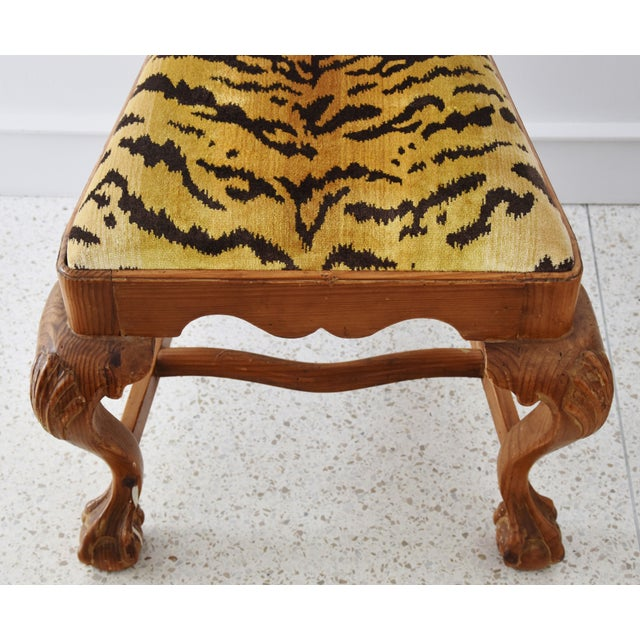 Italian Scalamandre Le Tigre (Tiger) Velvet Side Chairs - Pair For Sale - Image 10 of 13