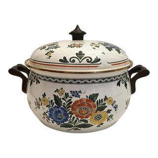 1970s Vintage German Enamel Dutch Oven For Sale