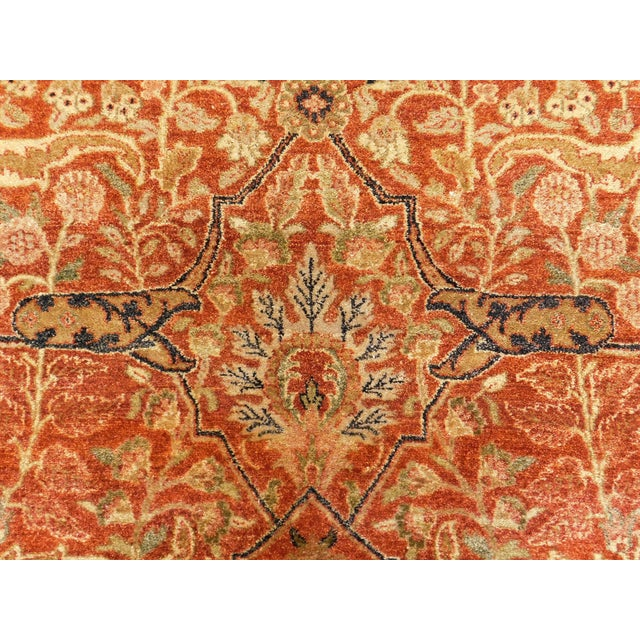 Handmade Indian Rug - 8' x 10' For Sale - Image 9 of 10