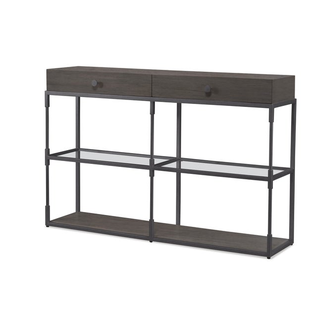 Contemporary Century Furniture Westport Double Console, Mink Grey For Sale - Image 3 of 3