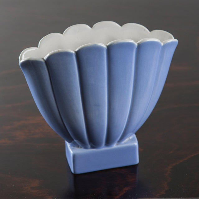 Blue Vase by Giovanni Gariboldi for San Cristoforo, Richard Ginori For Sale - Image 8 of 11