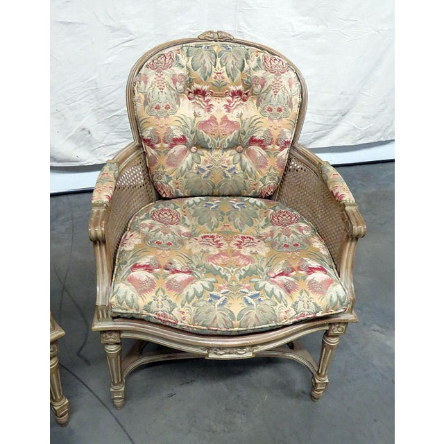 Louis XVI Louis XVI Style Bergeres - a Pair For Sale - Image 3 of 8