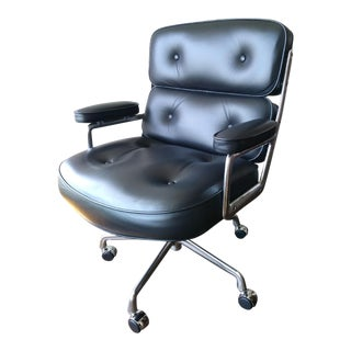 Herman Miller Eames Time Life Black Leather Desk Chair