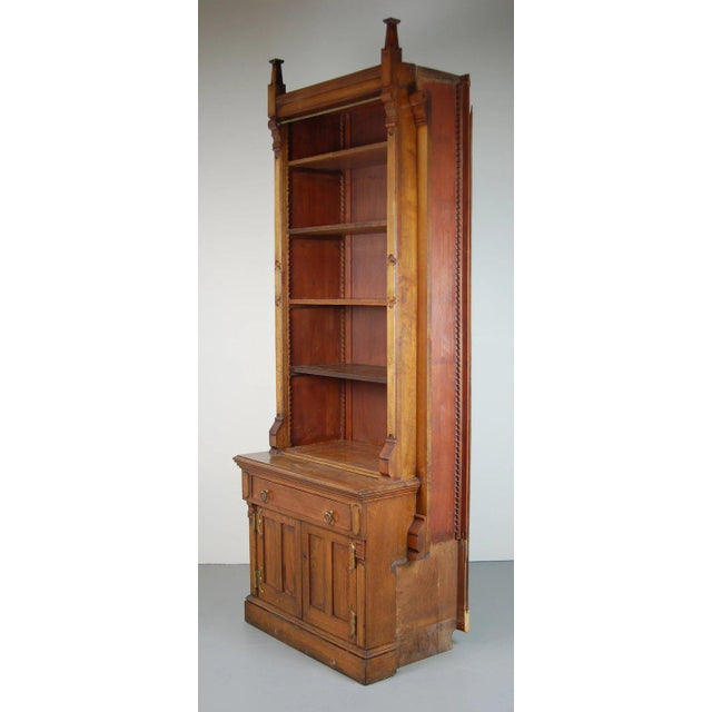 19th Century Victorian Renaissance Revival Bookcase Cabinet For Sale - Image 4 of 6