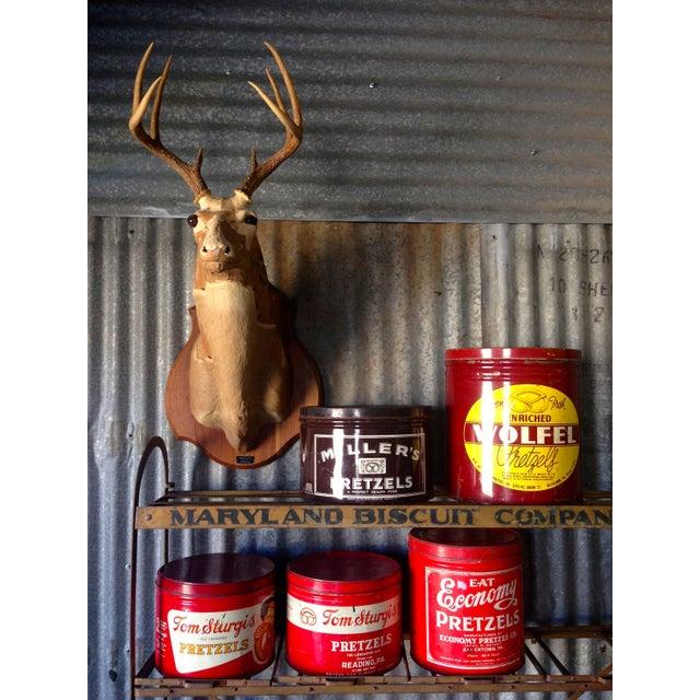 Vintage Eat Economy Pretzels Container - Image 8 of 8
