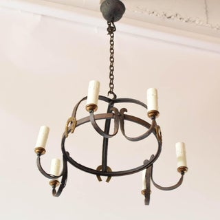 Mid 20th Century Iron Dome Chandelier Preview
