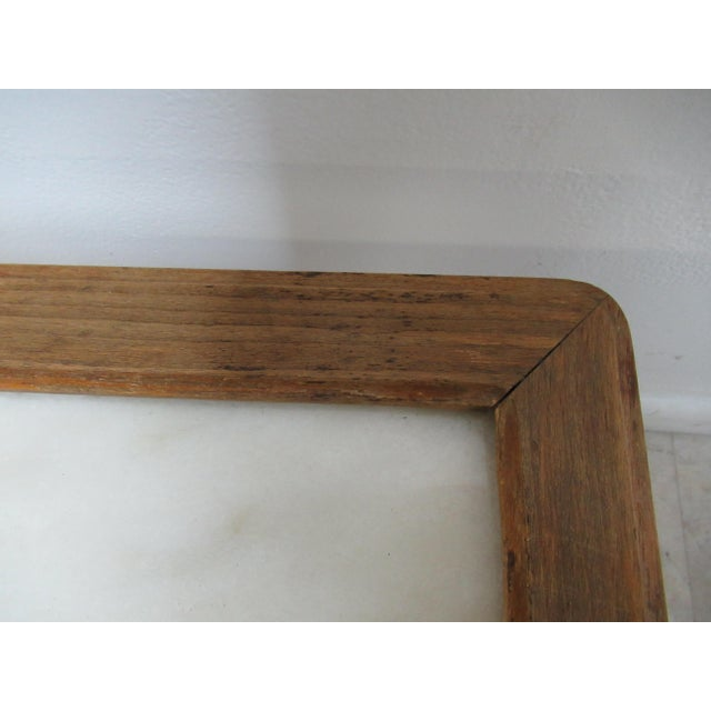 1930s French Carved Marble Top End Table For Sale - Image 9 of 12