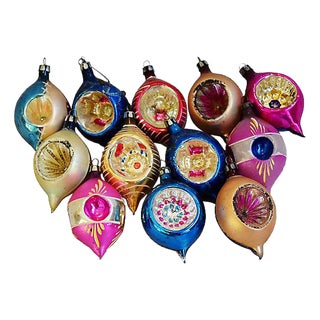 European Christmas Tree Ornaments w/Box - Set of 12 For Sale