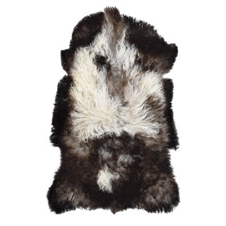 "Handmade Long Hair Goatskin Pelt - 2'2"" x 3'5"""