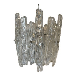 1960s Mid-Century Modern Lucite Ice Design Chandelier For Sale