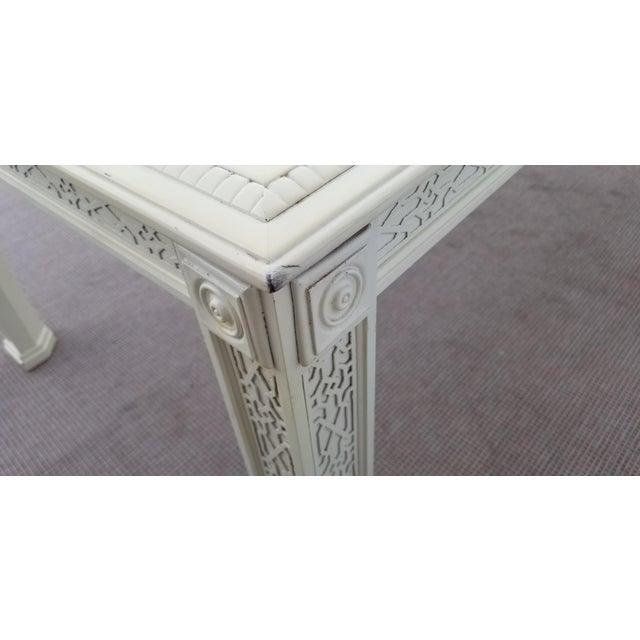 1960's Vintage Palm Beach Hollywood Regency Dining Table For Sale - Image 12 of 13