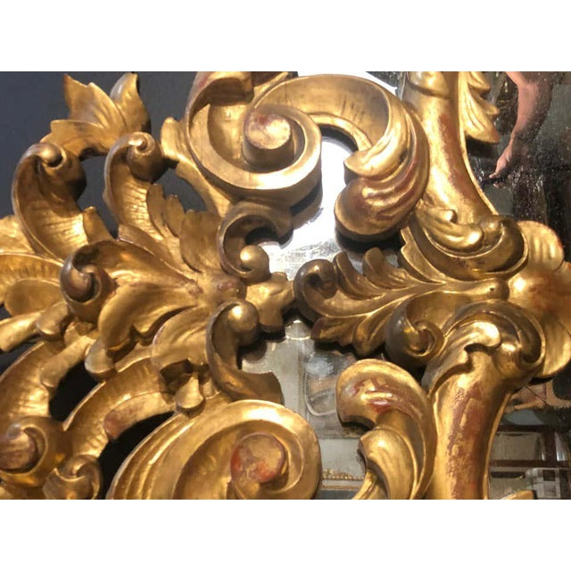 19th Century Gilt Mirror Wall or Console Mirror, French Finely Carved For Sale - Image 11 of 12