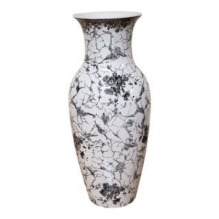 Vintage Mid Century Villeroy & Boch Alt Mettlacher Kupferstiche Vase For Sale