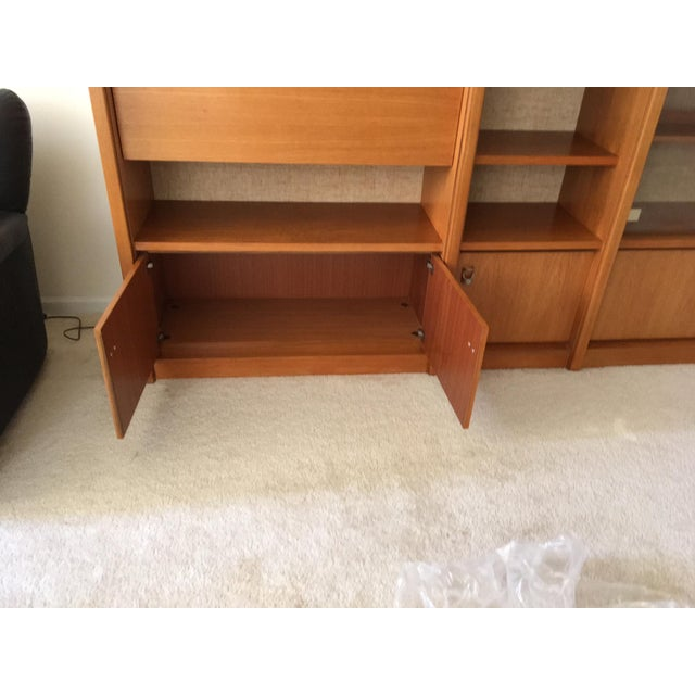 Mid-Century Swedish Teak Wall Cabinet - 3 Piece For Sale - Image 4 of 12