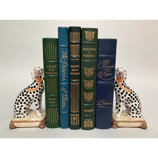 Ceramic Staffordshire Style Porcelain Dalmatian Dog Bookends – a Pair For Sale - Image 7 of 8