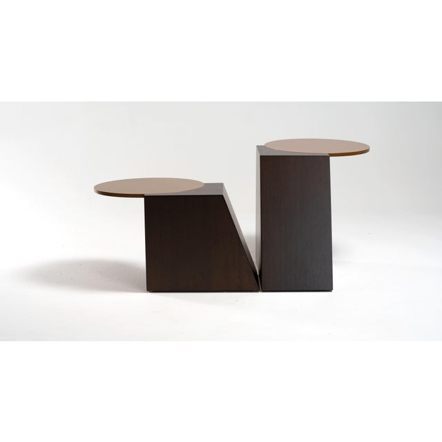Contemporary V Tables by Jason Mizrahi - a Pair For Sale - Image 3 of 7