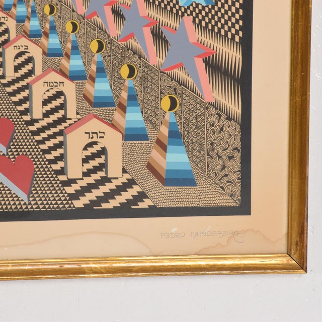 Vintage Pedro Friedeberg Lithograph Signed in Pencil A. P. 6/10 For Sale In San Diego - Image 6 of 8