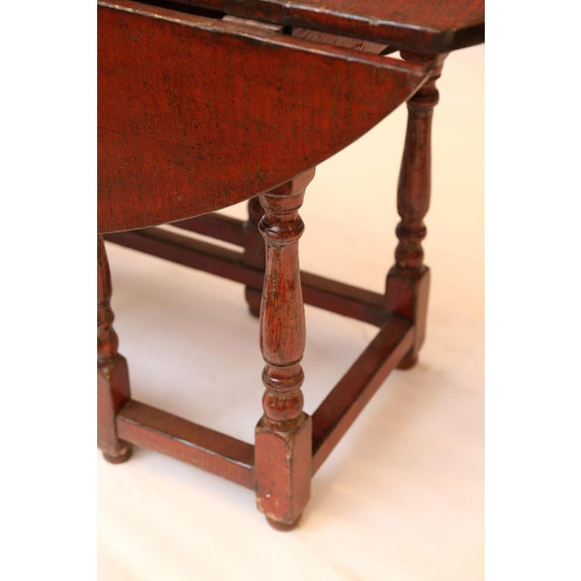 Red Lacquered English Table For Sale - Image 10 of 13