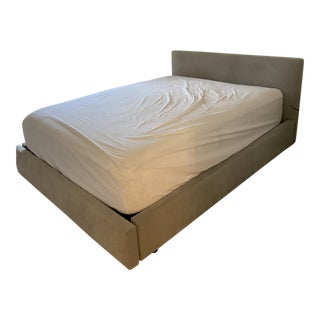 Contemporary Queen Size Bed With Storage For Sale