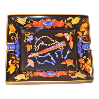 "Hermes ""Marqueteries De Pierres d'Orient Et d'Occident Pattern Porcelain Tray For Sale"