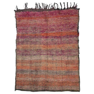 20th Century African Berber Moroccan Rug - 6′4″ × 8′ For Sale