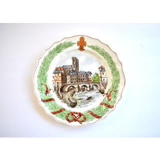 19th Century Antique French Notre Dame Faience Plate Preview