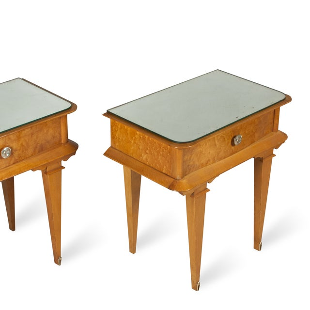 Vintage 1940s French Sycamore End Tables - A Pair - Image 5 of 10