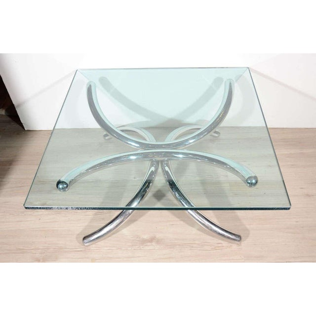 1970s Italian Mid-Century Modern Coffee Table with Sculptural Base Design For Sale - Image 5 of 13