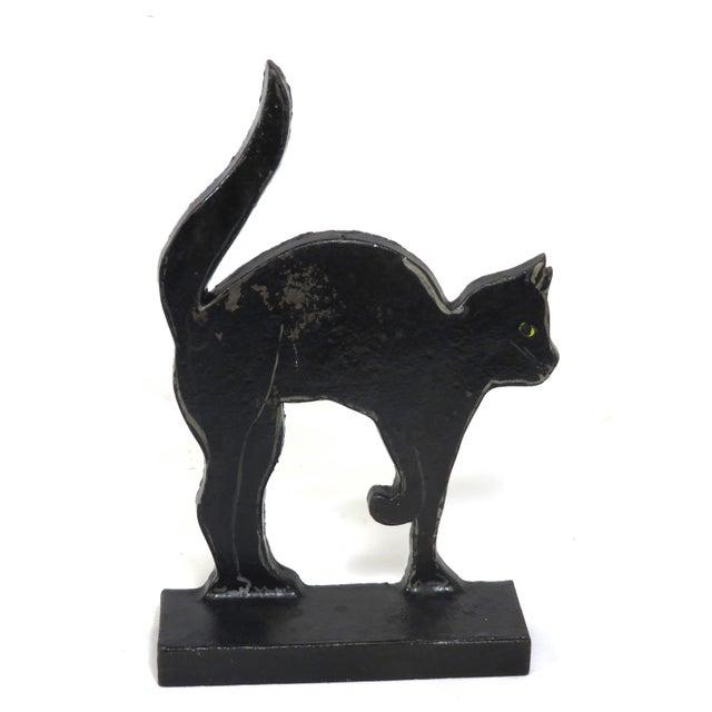 1920s Black Halloween Cat Cast Iron Doorstop For Sale - Image 13 of 13