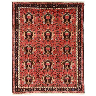 RugsinDallas Vintage Persian Karajeh Rug - 5′3″ × 6′7″ For Sale