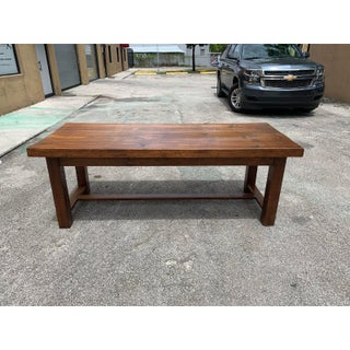 19th Century French Louis Philippe Period Oak Farm Table or Monastery Table. Preview