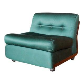 1960s Contemporary M. Bellini for B & B Italia Emerald Green Lounge Chair
