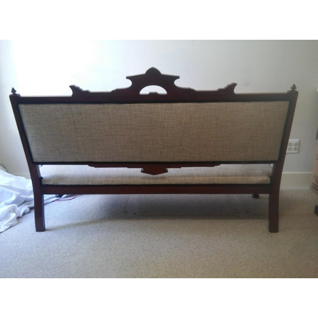 Early 20th Century Eastlake Settee a La Scalamandre For Sale - Image 10 of 13