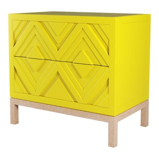 Susana Side Table - Citron, Natural Cerused Oak For Sale