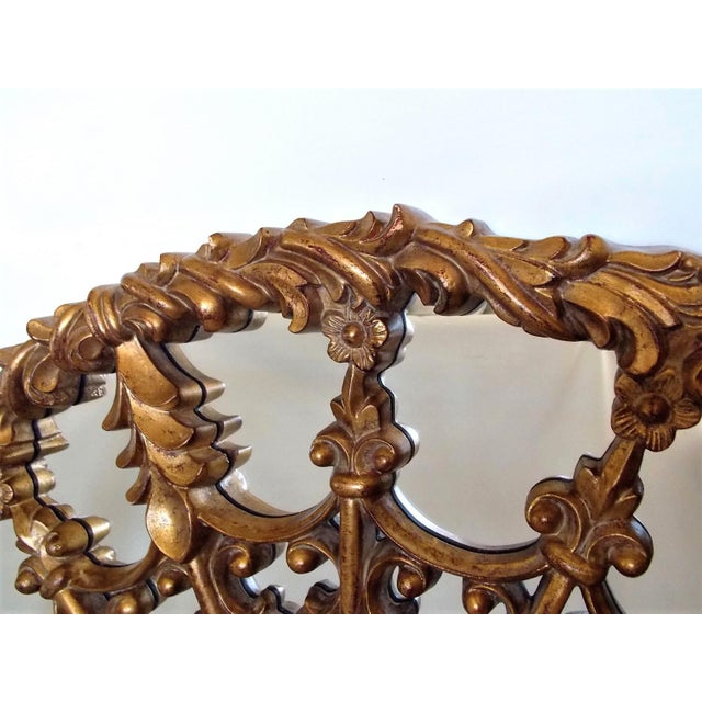 1960s Regency Style Round Mirror For Sale - Image 5 of 8