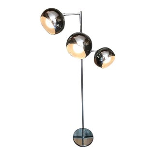 Mid-Century Modern Chrome 3-Way Ball Floor Lamp by Robert Sonneman For Sale