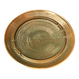1960s Scandinavian Green Ceramic Pottery Ashtray For Sale