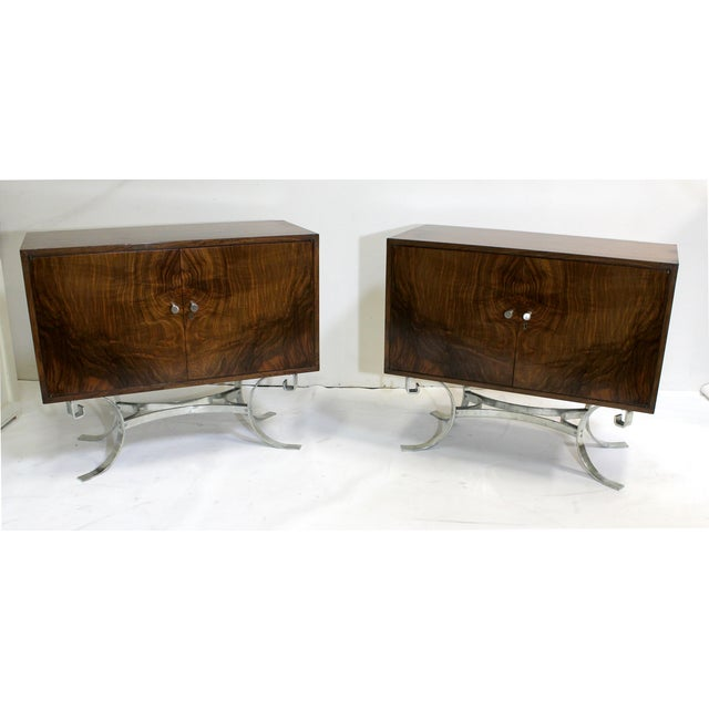 Mid-Century Italian Walnut Cabinets - A Pair - Image 2 of 9