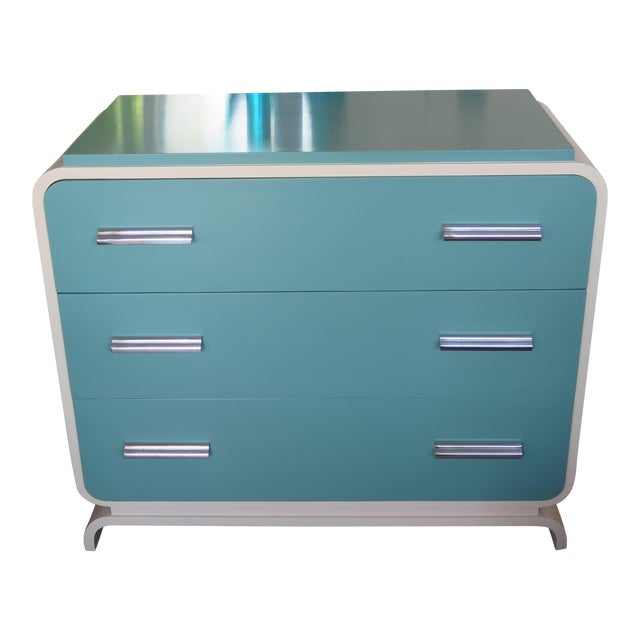 1930s Modern Donald Deskey for Valentine Seaver Co Chest For Sale - Image 11 of 11